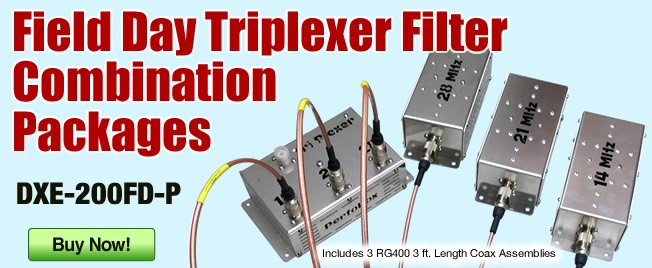 DXE Field Day Triplexer Filter Combo
