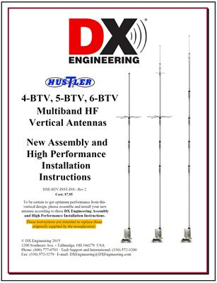 Hustler 5BTV 5-Band HF Vertical Antenna and DXE Installation Guide Packages  5BTV