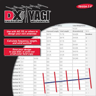 DX Engineering Yagi Mechanical® Antenna Design Software DXE-SOF-YAGIMECH