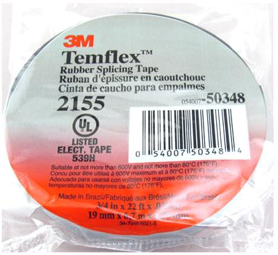 3M Products Temflex 2155 Rubber Splicing Tape 2155 - Free Shipping on Most  Orders Over $99 at DX Engineering