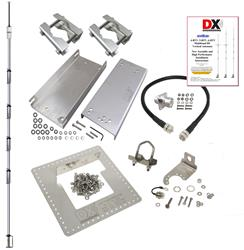 DX Engineering 6BTV 6-Band High Performance HF Vertical Antennas and  OMNI-TILT™ Mounting Systems DXE-HSR-6BTV-P2