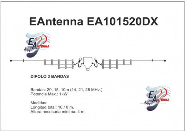 EAntenna Multi-Fan Dipole Multi-Band Wire Antennas R2010050
