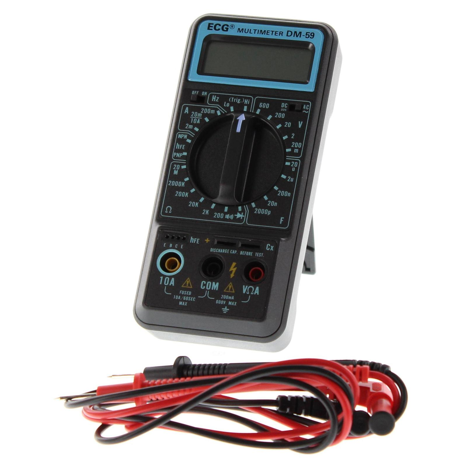 Ecg Digital Multimeters Dm 59 Free Shipping On Most Orders Over Electronic 99 At Dx Engineering
