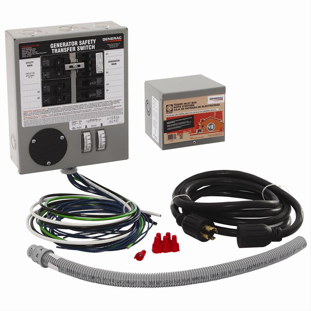 Generac Portable Generator Manual Transfer Switch Kits