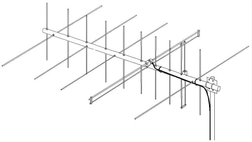 M2 Antennas 2M5-440XP 2 Meter and 70cm Yagi Antennas 2M5-440XP