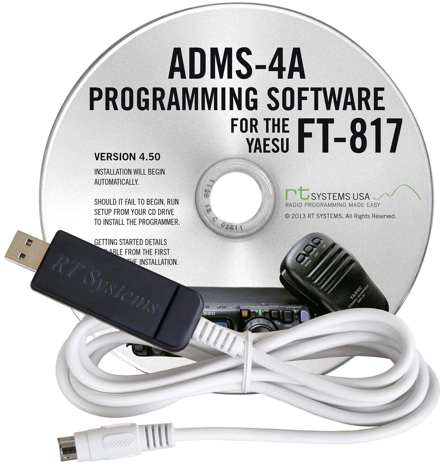 RT Systems Radio Programming Software ADMS-4A-USB