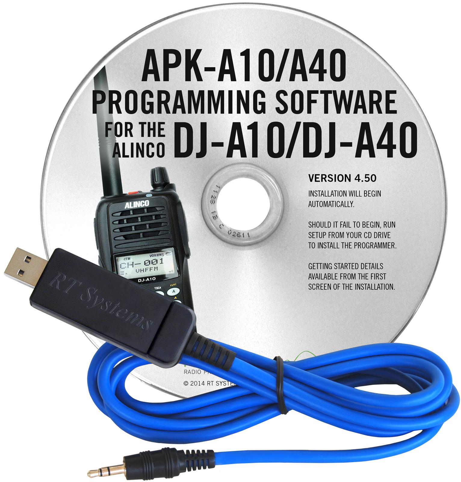 RT Systems Radio Programming Software APK-A10/A40-USB