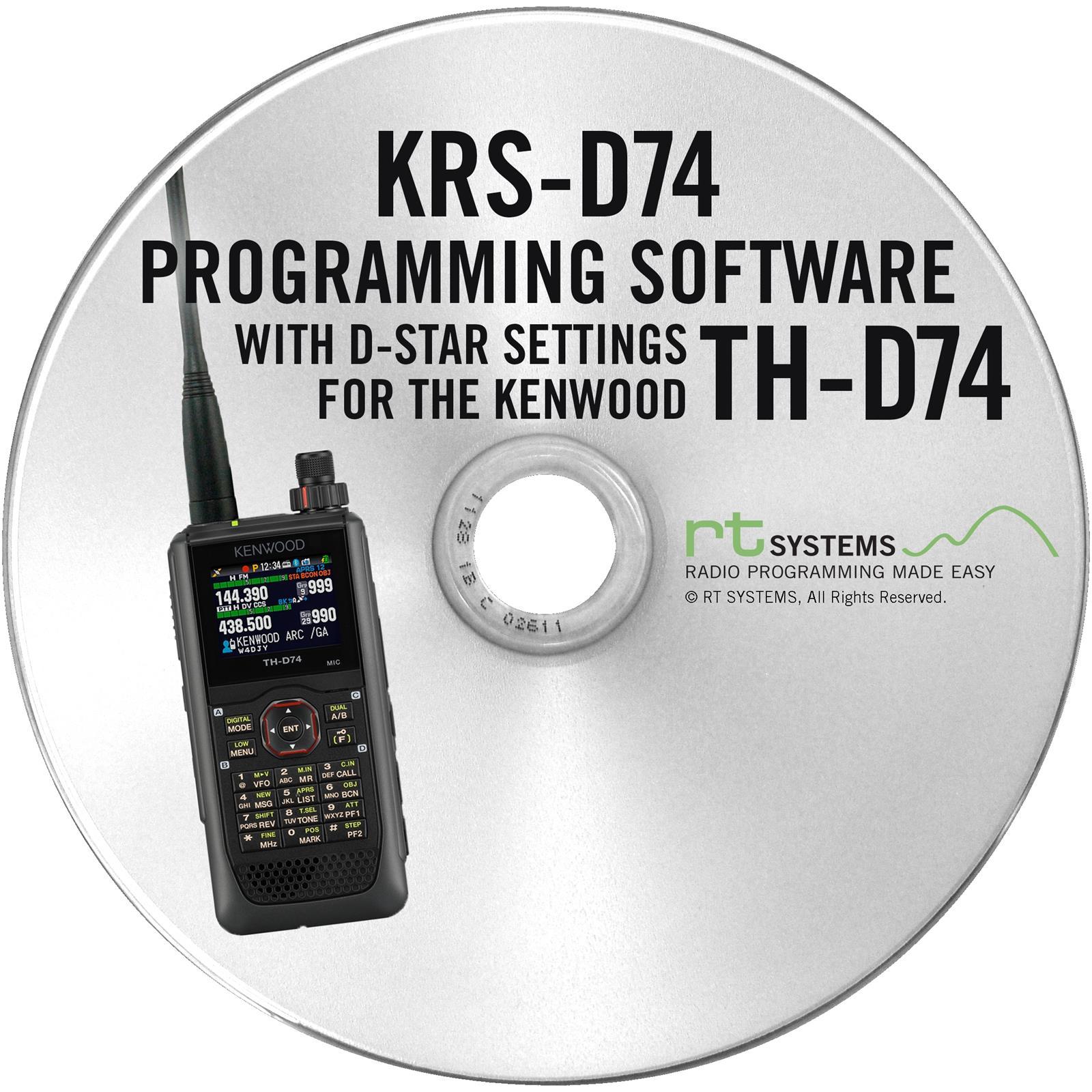 RT Systems Radio Programming Software KRS-D74-U