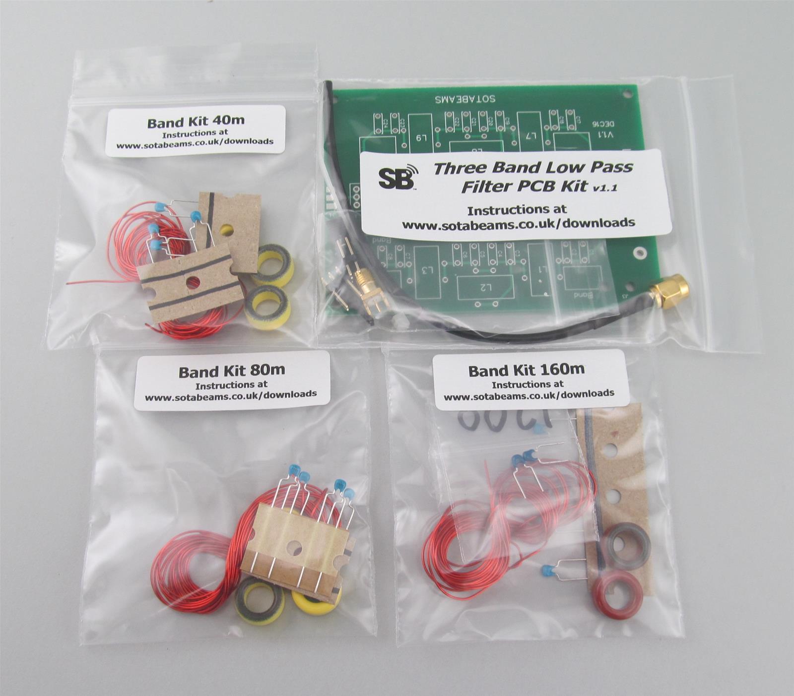 SOTAbeams Filter Boards and Band Component Kits LPFKITDXEPCB