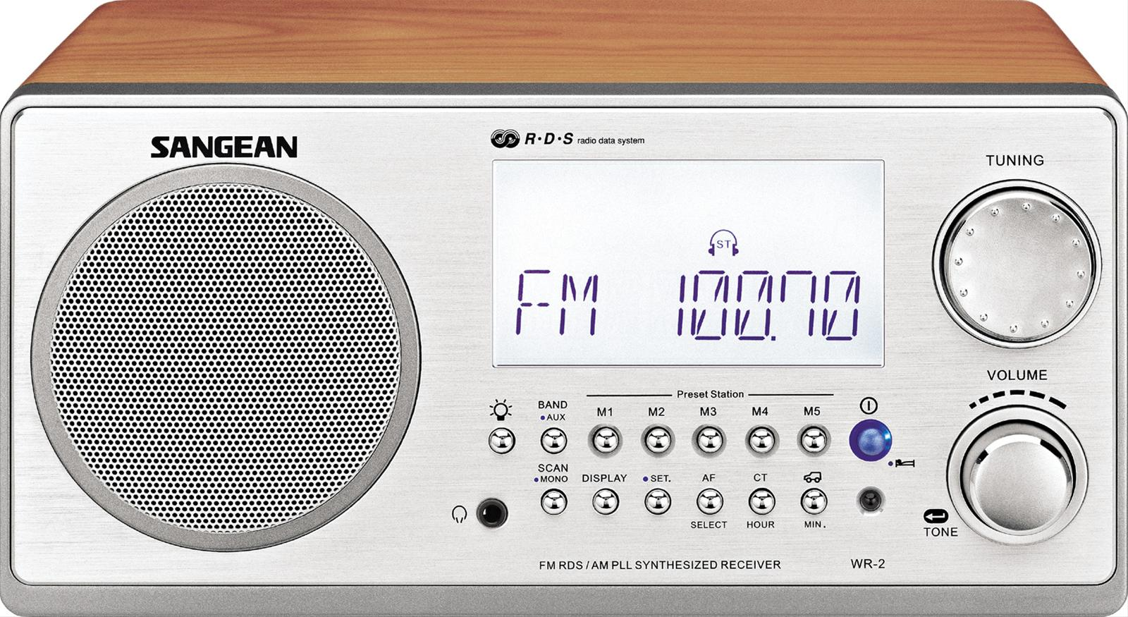 Sangean WR-2 Table-Top Radios WR-2WL - Free Shipping on Most Orders ...