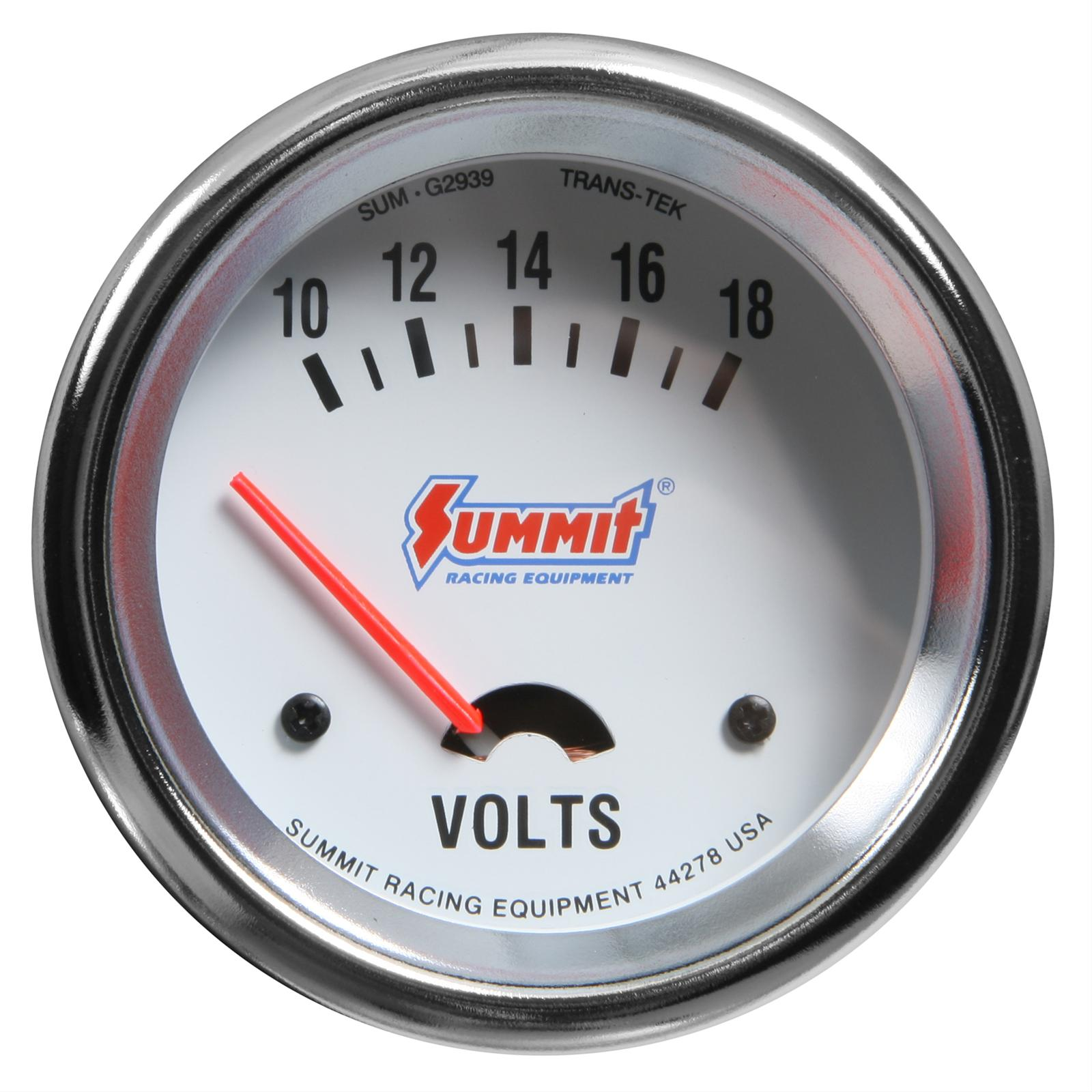 Summit Racing® Analog Electrical Gauges SUM-G2939 - Free Shipping on ...